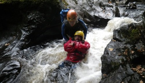 Canyoning in the Scottish Highlands