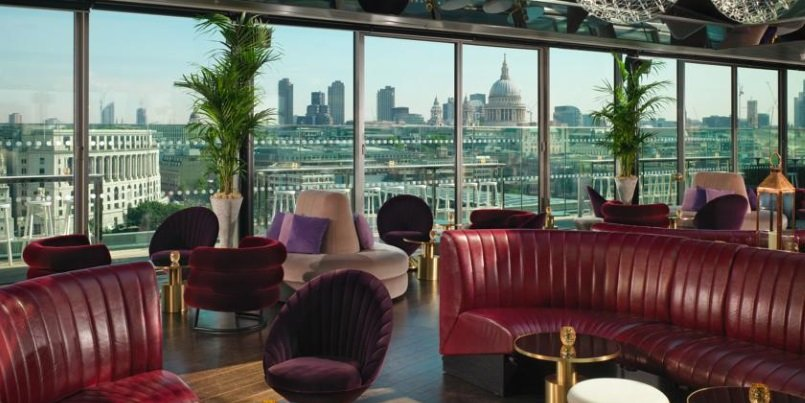 The Mondrian Hotel, London, Rooftop Bar. Best Hotel Rooftops in London 2016