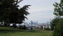 Greenwich Park, overlooking City of London