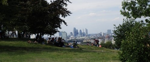 Greenwich Park, view overlooking London 496