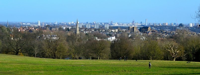 View of London from Hampstead Heat
