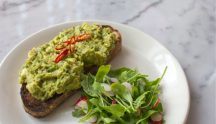 Mildred's: Avocado on toast