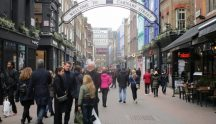 Carnaby Street in Soho, London