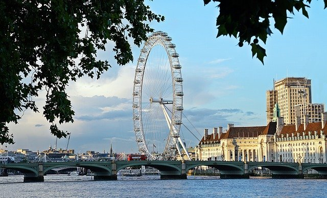 The London Eye with Westminster Bridge