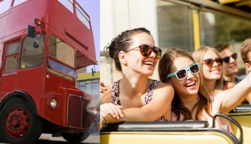 Vintage London Bus Tour with Afternoon Tea at Harrods