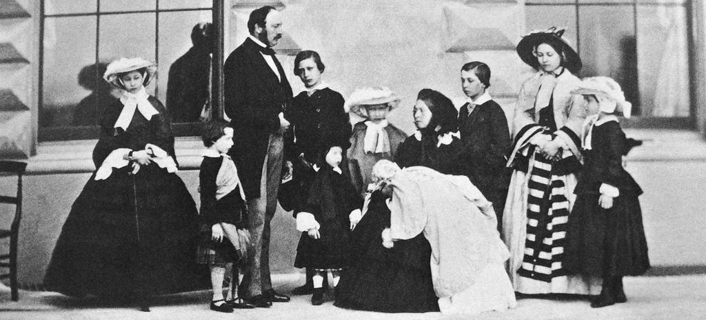 Queen Victoria Prince Albert and their nine children