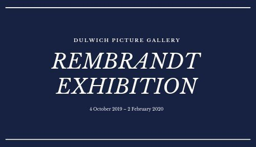 Rembrandt Exhibition