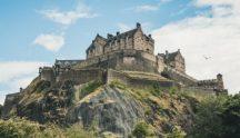 Edinburgh Castle on the hill 500