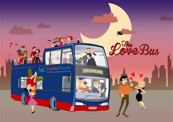 Valentine's London Night Bus