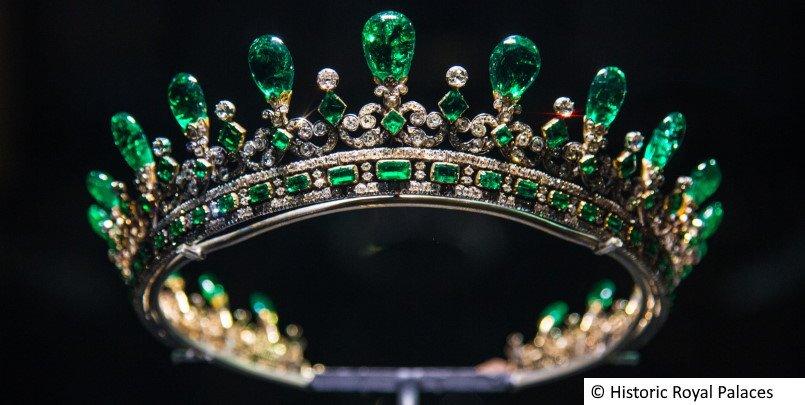 Queen Victoria's diamond and emerald diadem