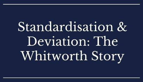 Standardisation & Deviation