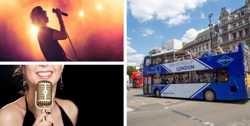 Musical Open Top Bus